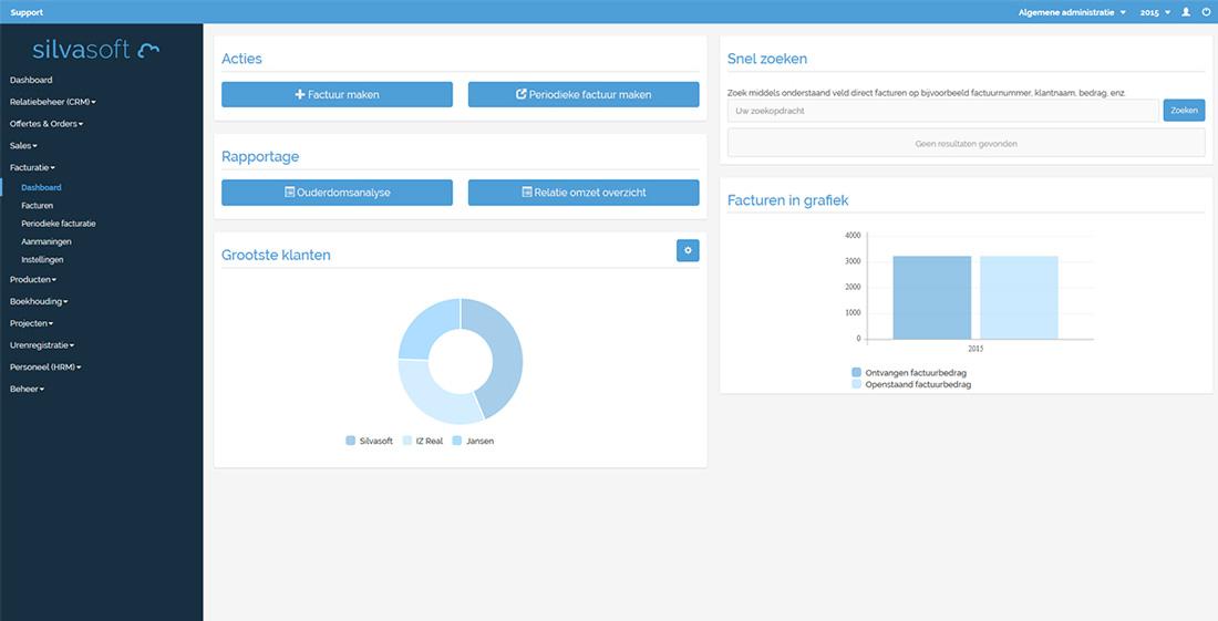 Factuurprogramma Dashboard