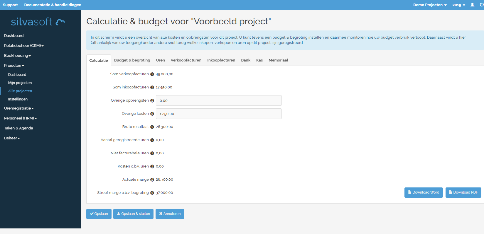 Projectbeheer software Silvasoft