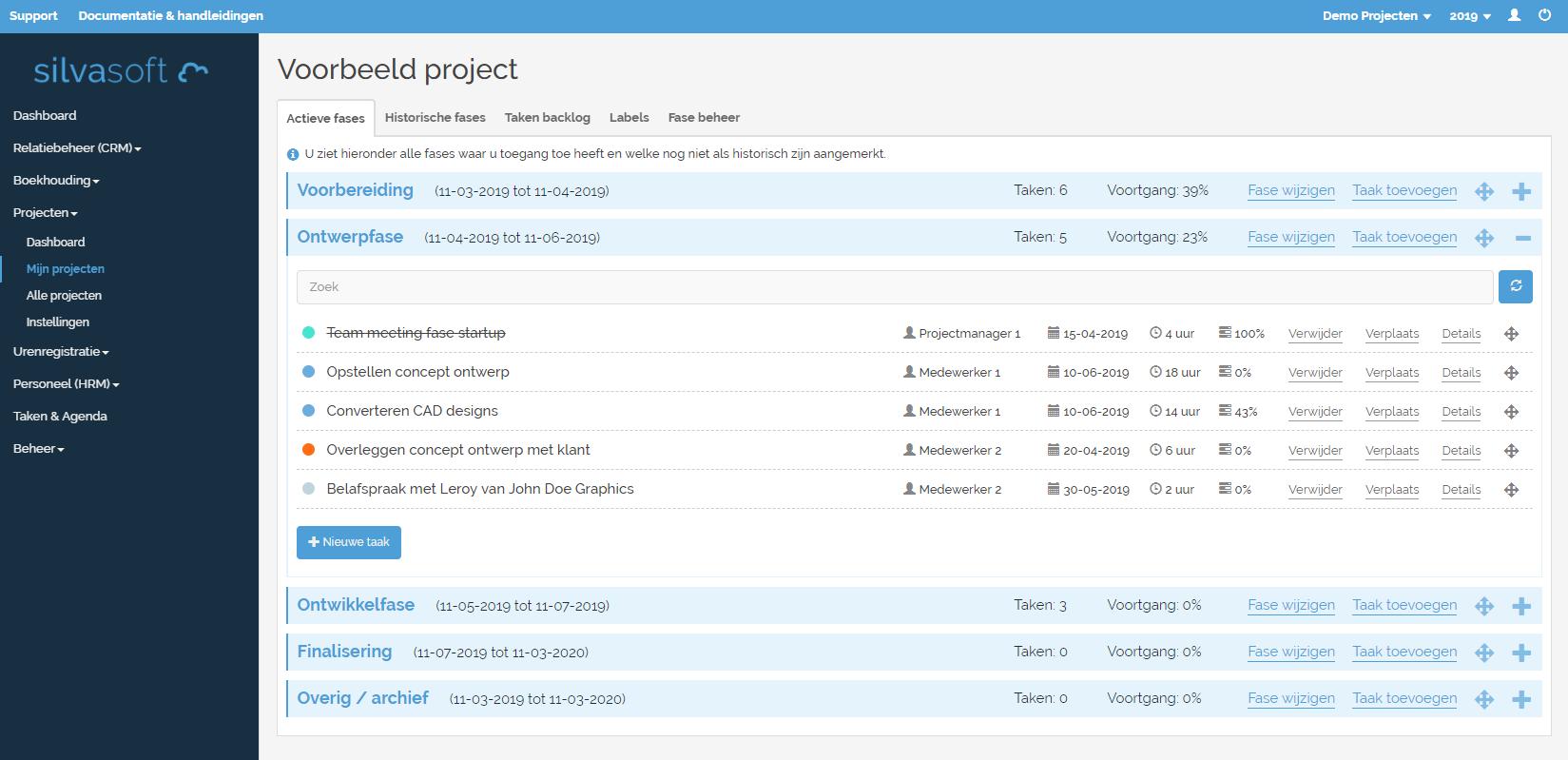 Projectmanagement software Silvasoft