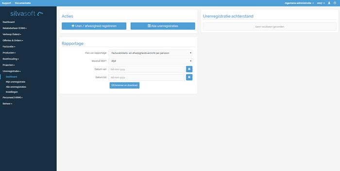 Tijdregistratie software Silvasoft